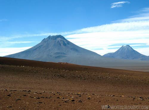 Two big volcanoes in Atacama...