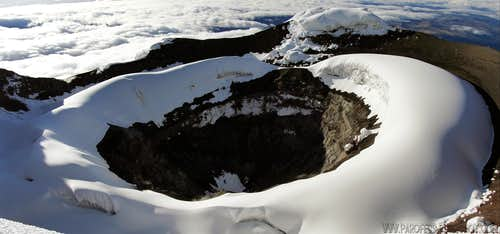 Closer look into Cotopaxi crater!