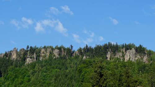 Broumov rocks from Křinice