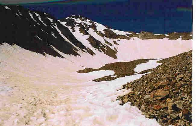 Snowfields below Castle Peak