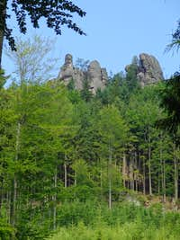 Broumov rocks from Martínkovice