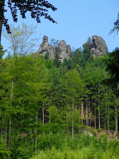 Broumov rocks from Martínkovice