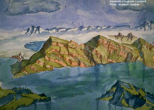Rigi, painting from Augustin...