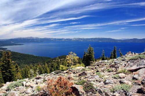North Lake Tahoe from Ellis Peak