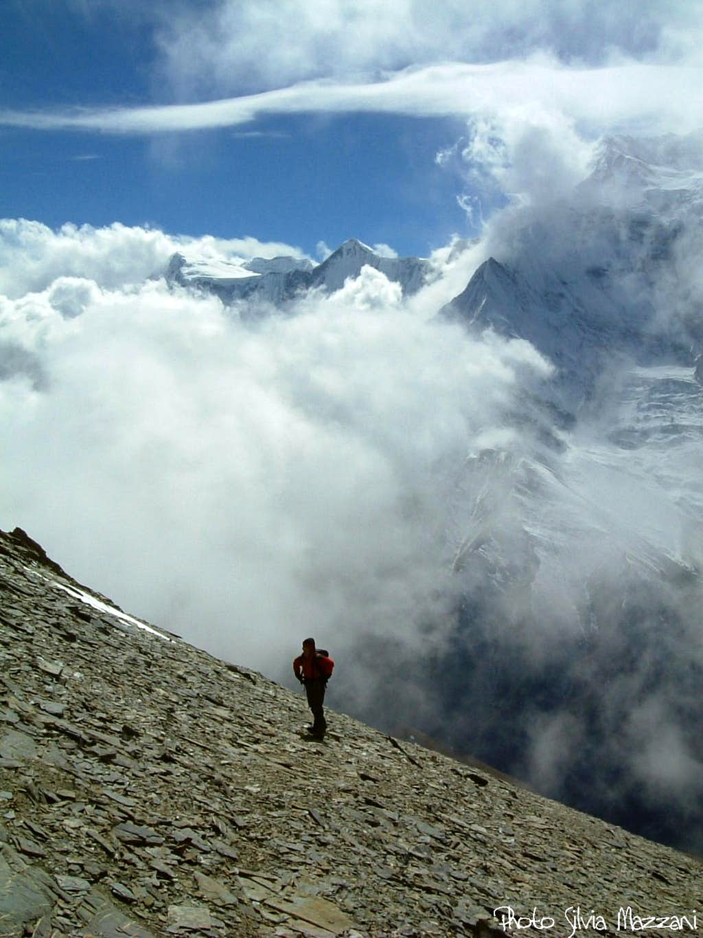Clouds' games over Annapurna range