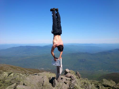 Dan Handstands Atop Mt. Adams