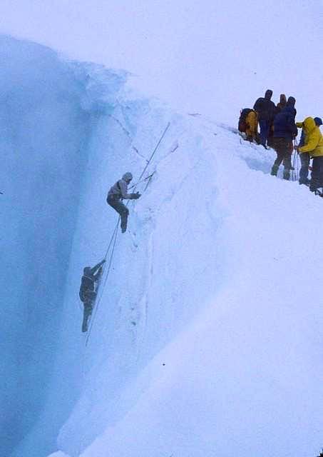 Crevasse practice