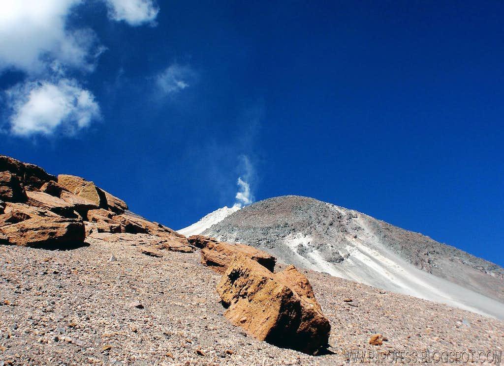 The active cone of San Pedro volcano