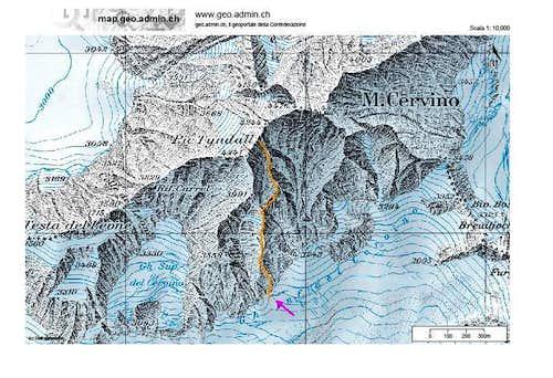 "Pic Tyndall - South Ridge ""Deffeyes-Carrel"" route"