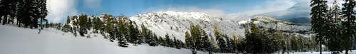 Thompson Peak spring panorama