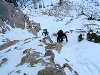 Coming up the N Buttress...