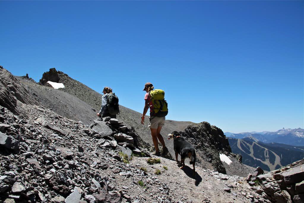 Hiking towards Mendota Peak