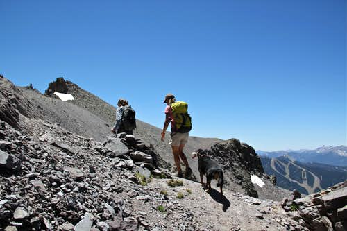 Hiking towards Mendota Peak