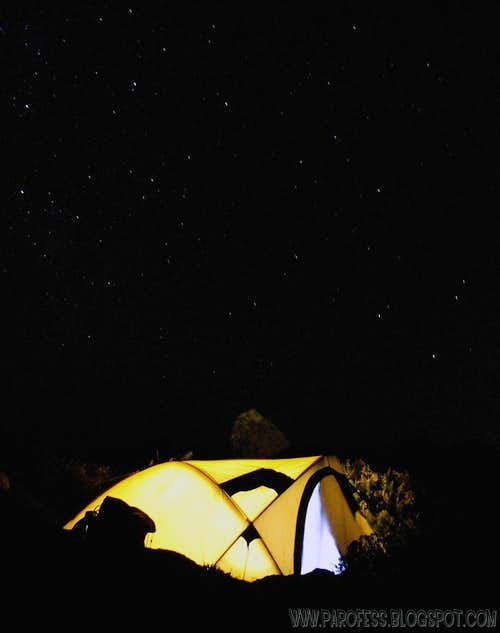 Summit camp night shot