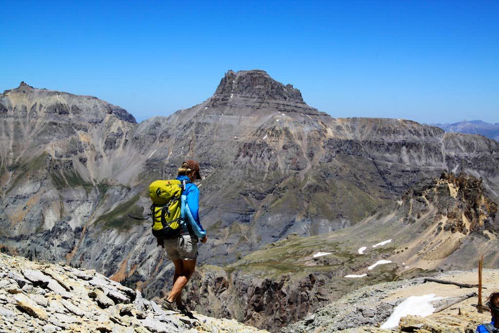 Descent from Mendota Peak