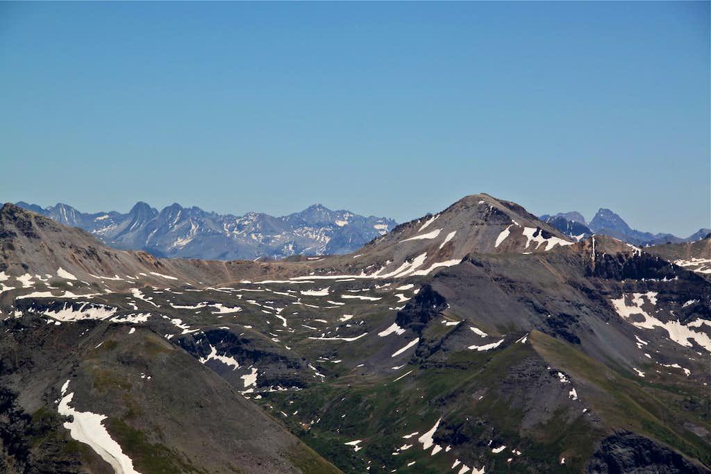 View towards Imogene Pass