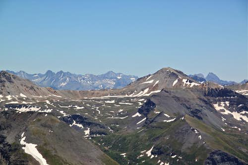 View towards Imogene Pass