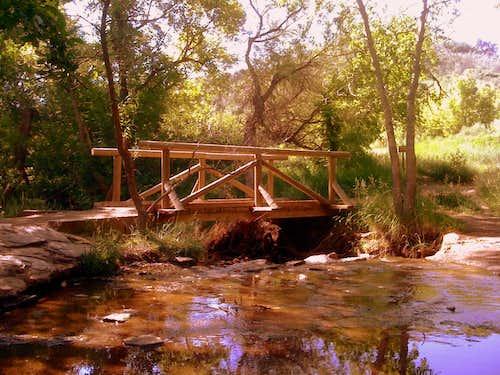 Trail and bridge