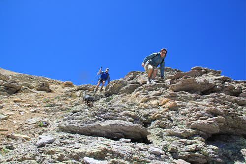 Descent from Mendota Peak