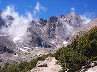 Longs Peak view at Chasm Junction