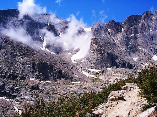 Longs Peak at Chasm Junction