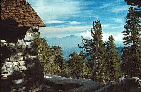 San Jacinto Hut at summit,...