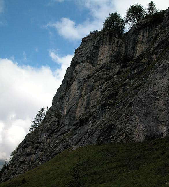 Rock faces in the Soleck...
