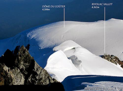Bosses Ridge - Mont Blanc (with labels)