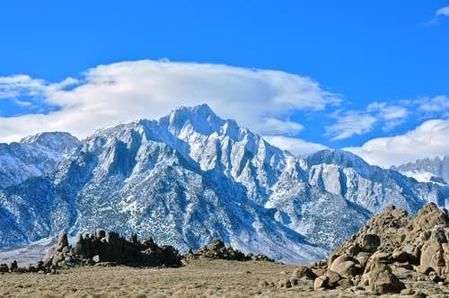 Lone Pine Peak from Alabama Hills