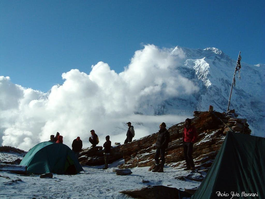 Waiting for the sunset at Pisang Peak Base camp (Annapurna)