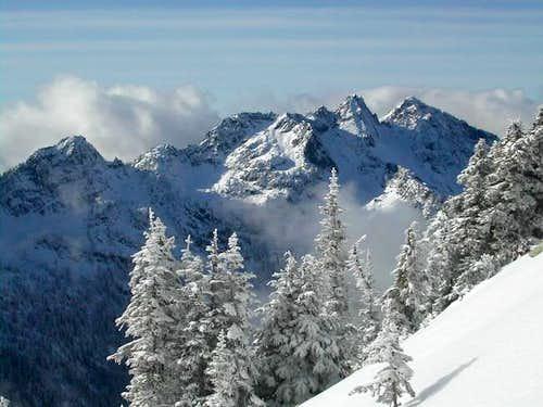 Chair Peak and Bryant Peak...
