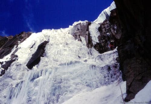 Diamond Couloir, The Headwall in the Eighties