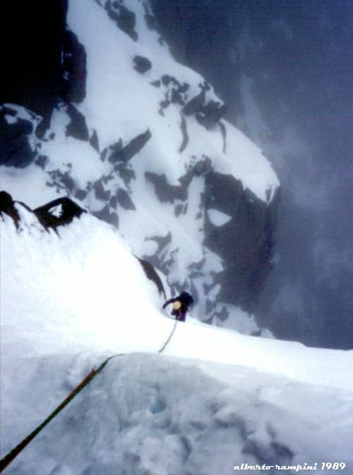 "Diamond Couloir: towards ""The Gate of the Mists"", 1989"