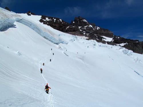 Crossing the Ingraham Glacier