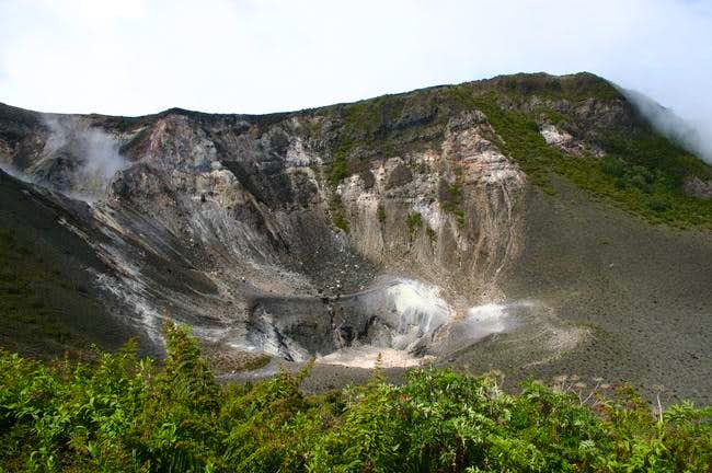 Crater of the Turrialba - volcano