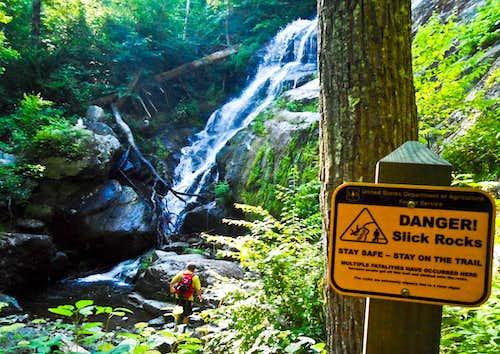 Danger! Slick Rocks