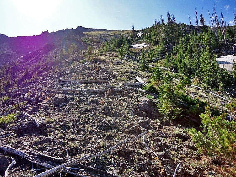Nearing the ridge top