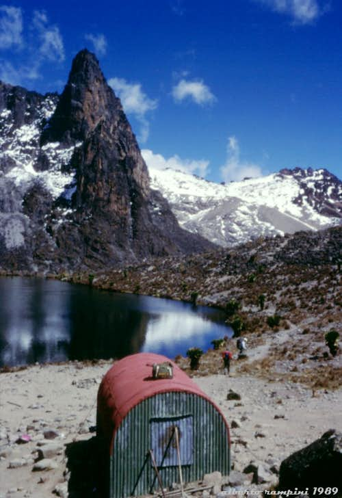 Mount Kenya: the small Two Tarn Bivouac in 1989