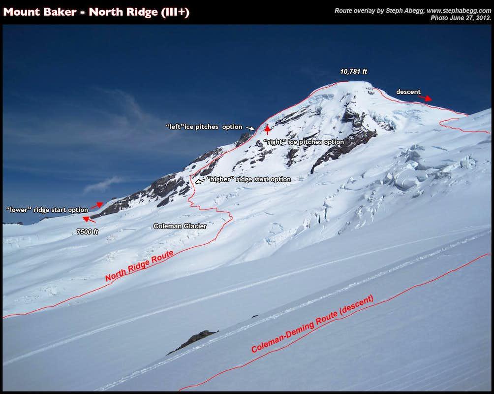 Baker North Ridge In Hours Trip Reports SummitPost - Us map baker peak