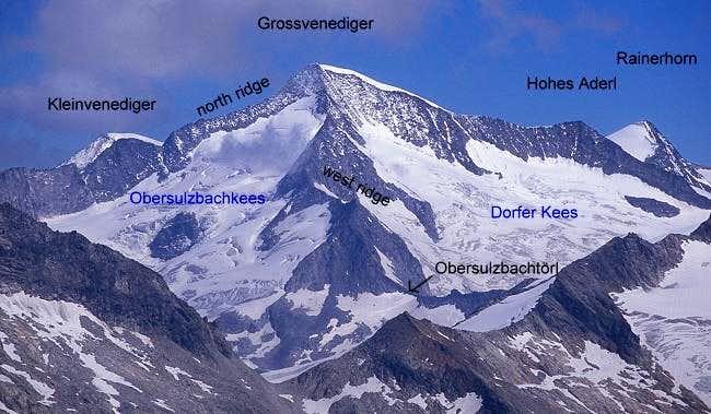 Grossvenediger seen from west...