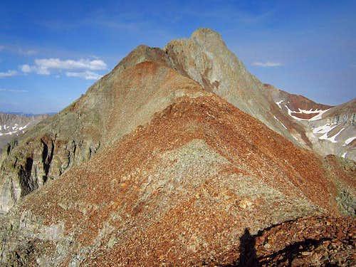 standard El Diente west ridge climbing