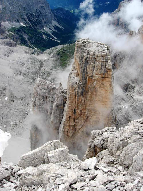 Campanile Basso seen from Brenta Alta