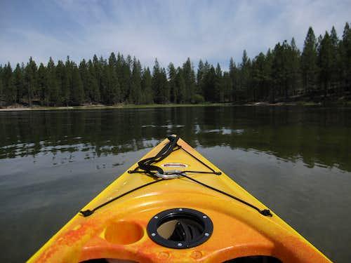 kayaking on Antelope Lake