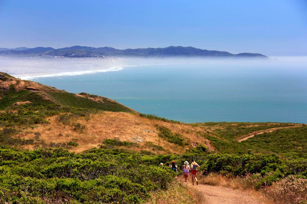 Hikers in the Marin Headlands