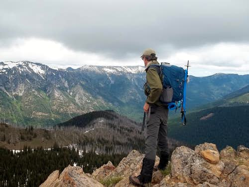 Zephyr on the summit of Bootjack