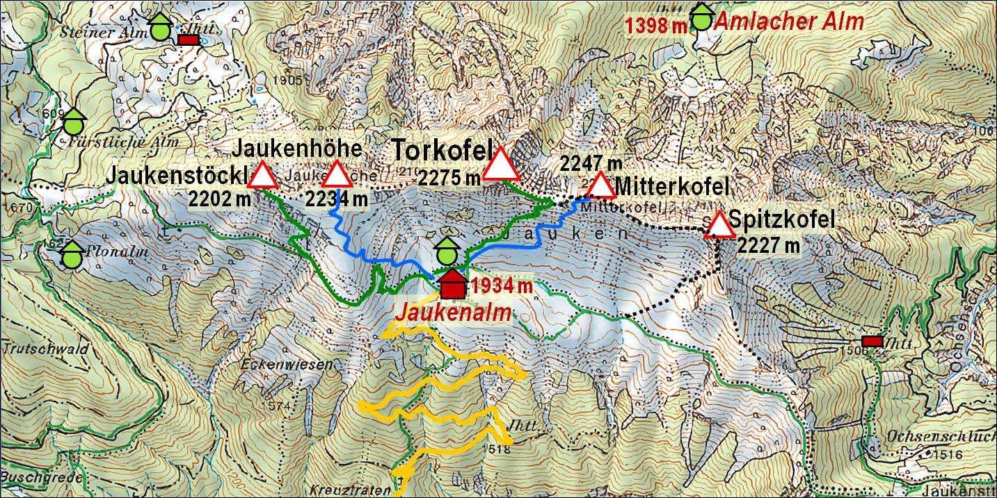 Torkofel group map