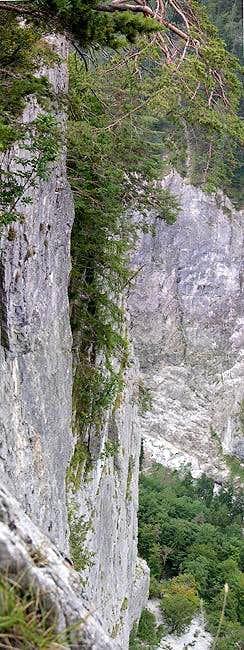 Looking down a 500m vertical...