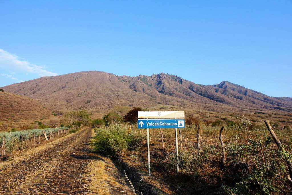 Sign next to the main road towards Ceboruco.