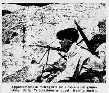 """Thirty rope parties of Alpine soldiers on the Matterhorn's top""; 30th July, 1938"