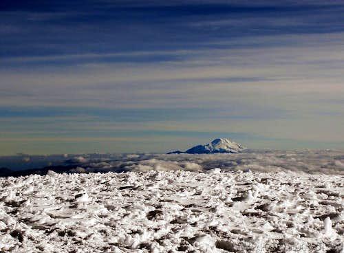 Chimborazo from Cotopaxi summit